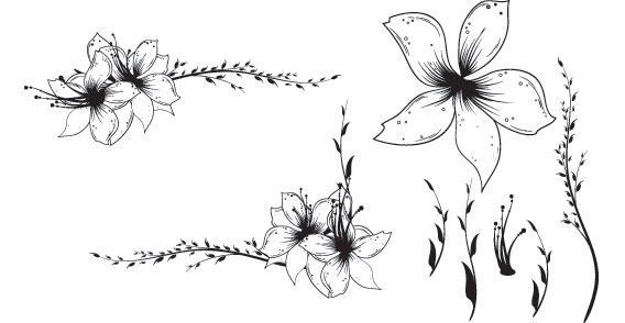 free flower border clip art. flower clip art free.