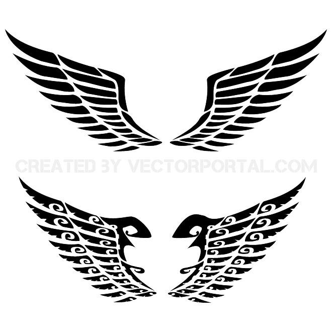 10+ tribal wings vectors | download free vector art & graphics