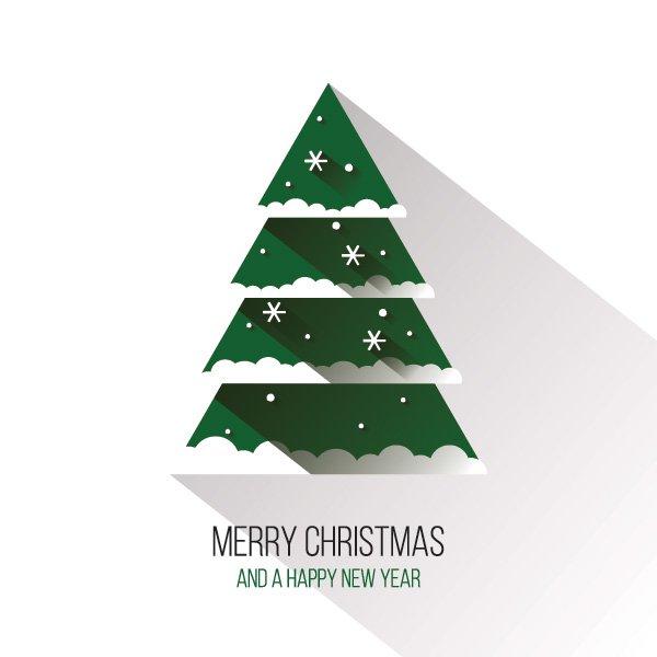 Vector Christmas Tree.Flat Christmas Tree Free Vector